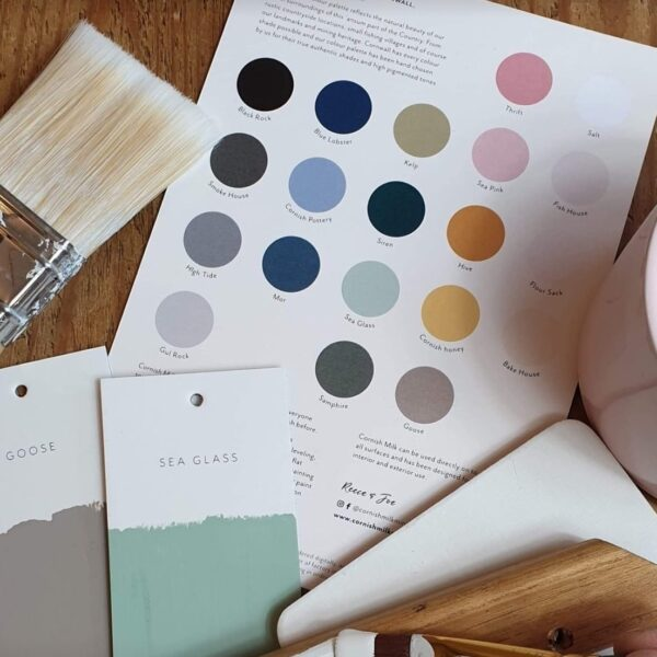 Cornish Milk Mineral Paint Swatch Card